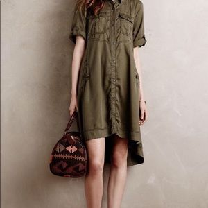 Anthro Holding Horses Military Swing Dress NWOT
